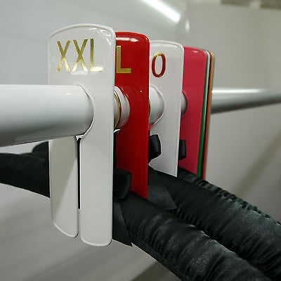 Garment Rail Clothes Size Rail Dividers Plain, Sizes and Numbers (packs)
