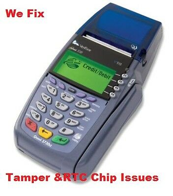 Verifone Tamper Removal, Bad RTC chip repair service- VX510- VX570