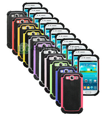 Lot of 11 Hybrid Rugged Rubber Hard Case Cover for Samsung Galaxy S3 S III 3