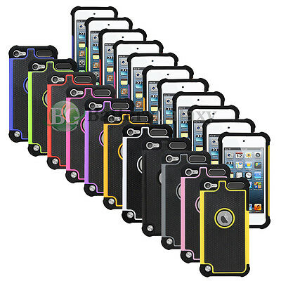 Lot of 11 Hybrid Rugged Rubber Matte Hard Case Cover for Apple iPod Touch 5 5th