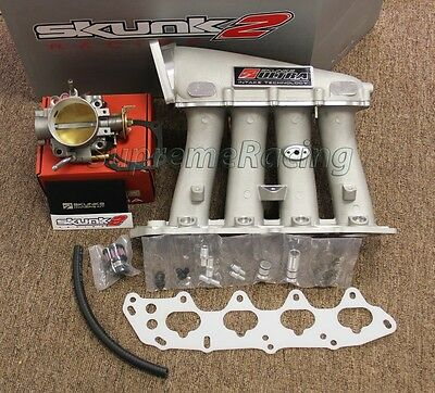 Skunk2 Ultra Series Intake Manifold+ 70mm Throttle Body for 99-00 Honda Civic Si