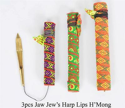 Jaw/Jew's / Mouth Harp Dan Moi Vietnam - Set of 3 Different - Free Shipping