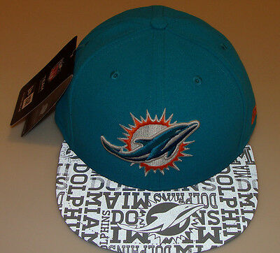 New Era Hat Cap NFL Football Miami Dolphins 7 3 8 59fifty 2014 Draft Fitted 875dbece4