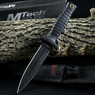 "7"" TACTICAL COMBAT BOOT KNIFE Survival Hunting MILITARY BOWIE Fixed Blade SHEATH"