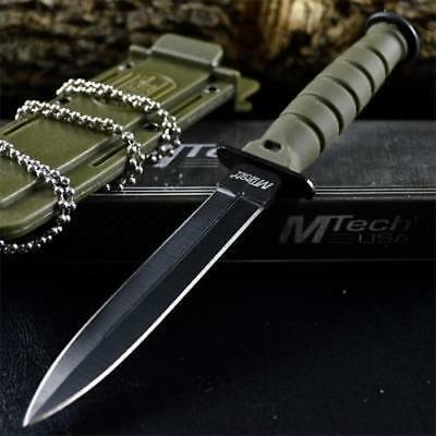 """6"""" TACTICAL COMBAT NECK KNIFE Survival Hunting MILITARY BOWIE DAGGER Fixed Blade"""