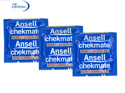 Ansell Chekmate Lubricated 12 Condoms Bulk Buy Pack