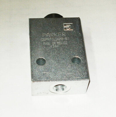Parker CSPH103A20-8T Cartridge Valve Single Pilot Operated Check 15 GPM 5000psi