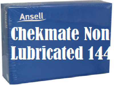 Ansell Chekmate Regular Non-Lubricated Bulk Buy BOX 144 Condoms