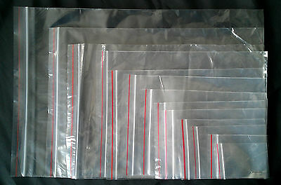 Grip Seal Bags Qty 100 13 Sizes Resealable Plastic Clear Bags