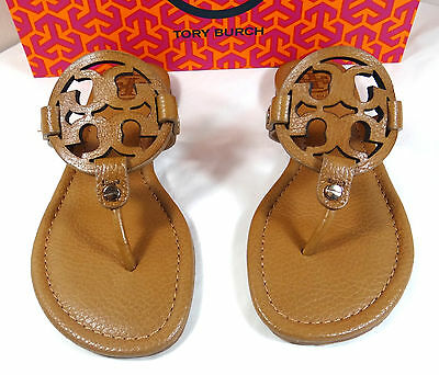 Tory Burch Miller Tan Tumbled Leather Thong Sandal 5 to 11
