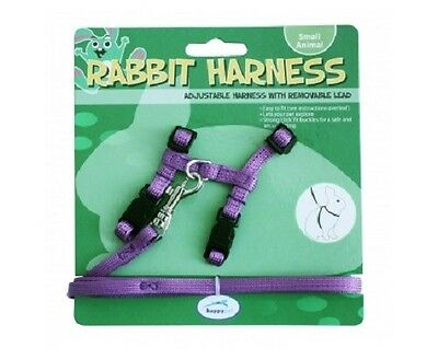 Happy Pet rabbit harness and lead set - purple or green