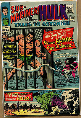 Tales to Astonish #70 Hulk - Start of the Quest - 1965 (Grade 6.0) WH