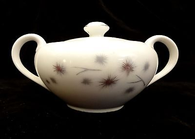 CREATIVE Vintage Fine China 1014 Platinum Star Sugar Bowl with Lid Japan