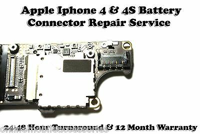 Apple Iphone 4 4S Motherboard PCB Battery Connector Repair Service