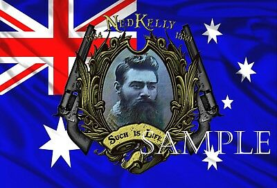 Ned Kelly Such Is Life  Tin Sign