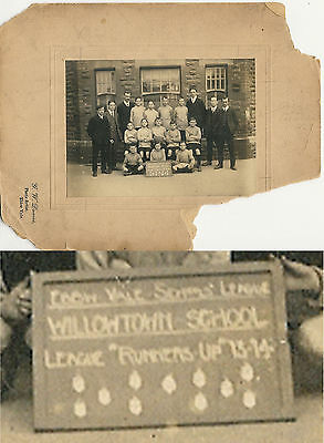 Willowtown, Ebbw Vale School Football Team 1913-14 Original Photograph