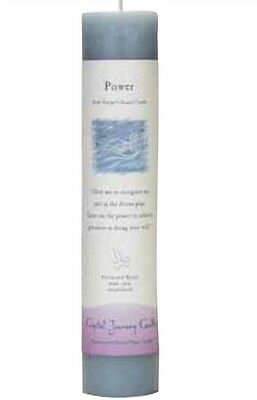 """Crystal Journey Gray POWER 7"""" PILLAR CANDLE Herbal Reiki Charged Wicca"""
