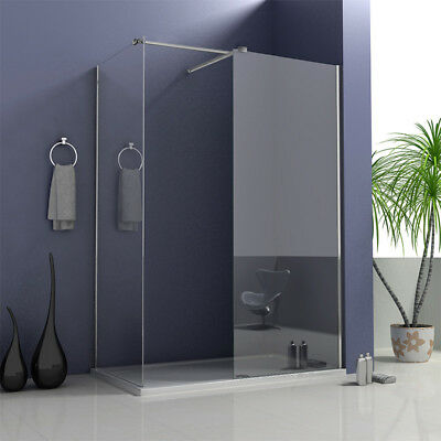 Aica Walk In Shower Enclosure and Tray Wet Room Easy Clean Screen Panel Cubicle