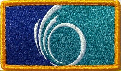 OTTAWA Flag Iron-On Patch Canada Military Embroidered Emblem Gold  Border