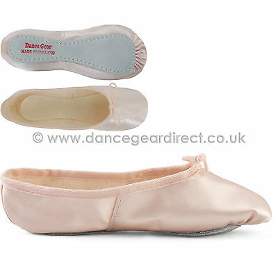 Pink Satin Full Sole Ballet Shoes Pumps Childs Girls Ladies by Dance Gear PSSS