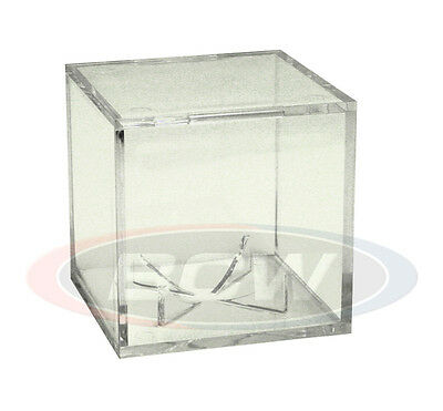 (1) Pro-Mold UV Baseball Ball Cube lll Stand Clear Display Case Stackable Holder