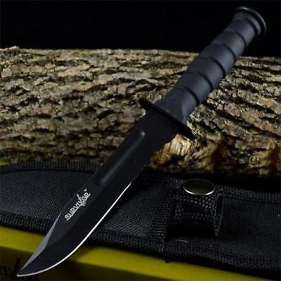 "7.5"" TACTICAL COMBAT NECK KNIFE Survival Hunting ARMY BOWIE DAGGER Fixed Blade"
