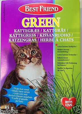 Grow your Own Cat Grass 100% Natural Hairball Remedy complete with Tray 85g • EUR 4,24