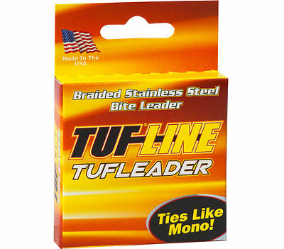 Tuf-Line Tuf Leader Braided Line 15 Lb. 5 Yd. Stainless Steel  FREE SHIP