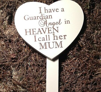 Memorial For Special Mum Wooden Heart Shaped Grave Stick, Stake Ornament Tribute