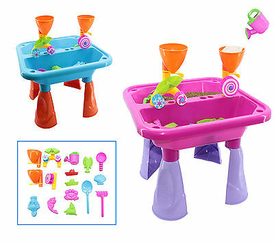 deAO Toddler Kids Children Sand and Water Table with Assorted Accessories