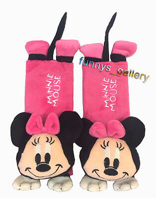Minnie Mouse Baby Car Shoulder Pad Kids Seat Belt Cover
