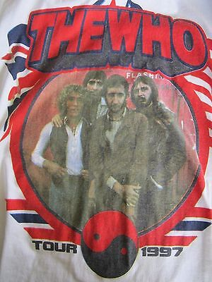 The Who 1997 Tour Tee T Shirt Free Shipping!  Vintage