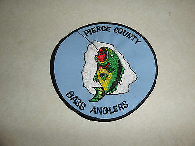 Patch Pierce Bass Anglers Very Large Patch 5 Inches Round
