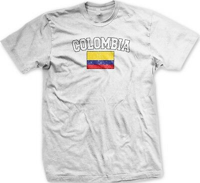 Columbia Columbian Flag National Ethnic Pride Soccer World Cup-Mens T-shirt