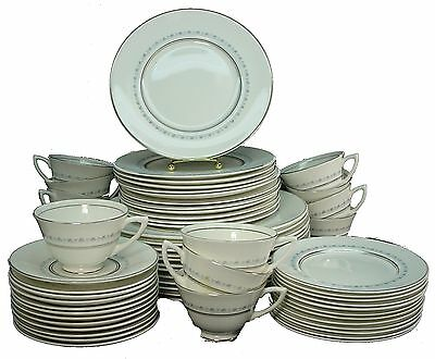 ROYAL DOULTON china TIARA H4915 60-Piece Service for 12 - cup dinner salad bread