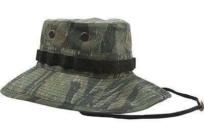 8a286835794 Boonie Hat Rothco Tiger Stripe Faded Vietnam Special Forces 100% Ripstop 1  of 1FREE Shipping ...