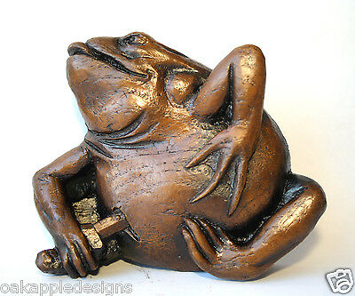 Gothic Frog Medieval Cathedral Misericord Carving Ornament Collectable Toad Gift