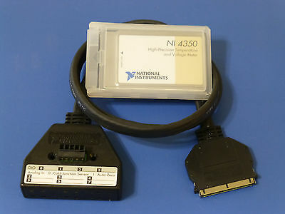 National Instruments NI-4350 PCMCIA Temperature / Voltage Meter Card w/ Cable