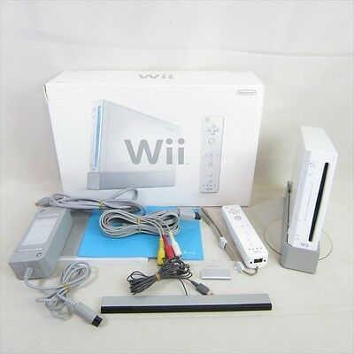 Nintendo Wii White Console System Boxed RVL-001 Working Tested JAPAN Game 1278