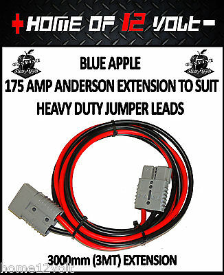 Thumper Jumper lead Extension 3000mm 3mt 175 Amp to 175 Amp Anderson connector