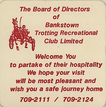 Vintage Coaster: Bankstown Trotting Recreational Club