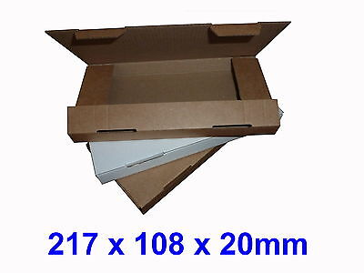 DL Large Letter 217 x 108 x 20mm PIP Cardboard Postal Mailing Boxes
