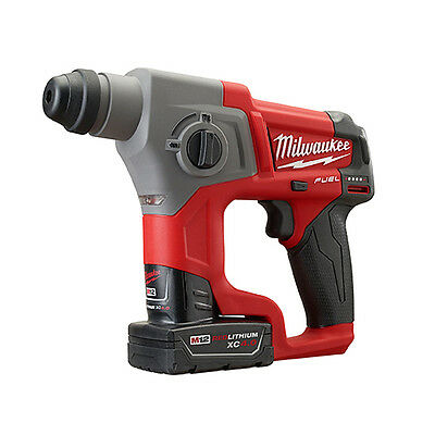 "Milwaukee 2416-22XC M12 FUEL™ 5/8"" SDS Plus Rotary Hammer Kit"