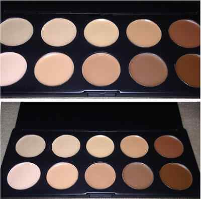 10 Colors Professional Mineral Smooth Makeup Foundation Cream Case New
