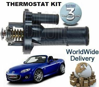 FOR MAZDA MX5 3 5 1.8 2.0 2007--/> NEW THERMOSTAT /& HOUSING KIT COMPLETE