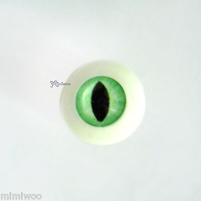 Mimi Collection 1/6 bjd Dollfie Acrylic Plastic Full Round Cat Eye 8mm Green