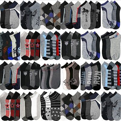 Boys Socks Size 6-8 Bulk Wholesale Assorted Low Cut Anklet Lot Sport Casual