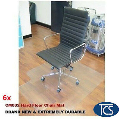 6 x New Hard Floor Office Chair Mat Vinyl 1200 x 900mm FREE SHIPPING