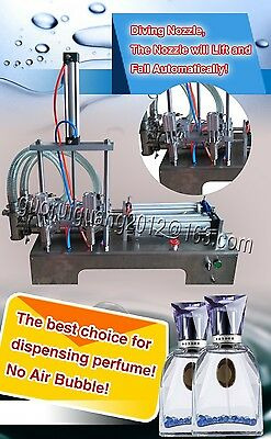 bottle capping machine,two diving heads oil liquid sauce filling machine 1000ML