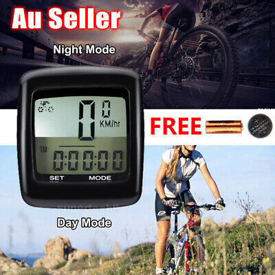 Wireless Waterproof Bicycle Bike Cycle LCD Digital Computer Speedometer Odometer
